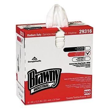 Brawny - Toalla de ducha industrial ligera, 200 toallas por caja: Amazon.es: Oficina y papelería