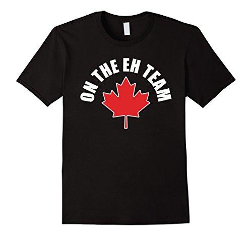 Mens On The Eh Team Funny Canada Hockey T-Shirt 2XL Black (Apparel Canada Hockey)