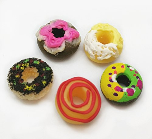 5 pcs Dollhouse Miniature Bakery Food Colorful Donuts from The Best Buy