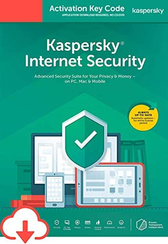Kaspersky Internet Security 2020 | PC/Mac/Android | Activation Code by Email [Download] | Antivirus Software, Smart Firewall, Web Monitoring, Total Security VPN, Parental Control (1 Device, 2 Years)