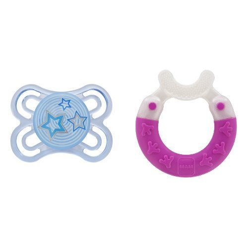 MAM Gift for Baby-Pacifier and Bite & Brush Teether by MAM