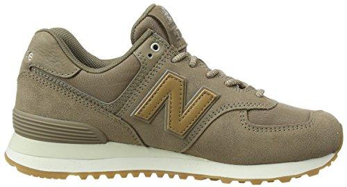 New Balance Damen WL574C Glitter Pack Sneaker, Mehrfarbig (Mushroom/WL574CLM)