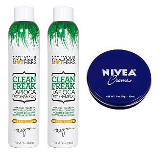 Not Your Mother's 2 Pack Clean Freak Tapioca Dry Shampoo 7 Oz. + Travel Size Body Cream 1 Oz. by Not Your Mother's