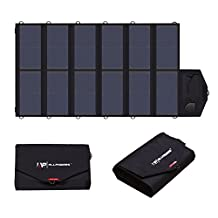ALLPOWERS 80W Foldable Solar Panel SunPower Solar Charger (Dual 5V USB with iSolar Technology+18V DC Output) for Laptop,Smartphone,Notebooks and 12V Car, Boat, RV Battery