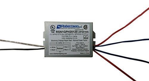 - RSN1GPH20120 (3P20184) Fluorescent eBallast for 1 GPH212T5 thru GPH463T5, GU22-22T5 or TUV 18W PL-L Lamps, Preheat Rapid Start, 120Vac, 50-60Hz, Normal Power Factor