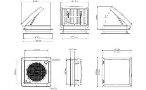 41DFOOymJJS Belüftung für Wohnmobil RV Dachventilator, automatischer Wohnmobilventilator mit Regensensor, level permanenter…