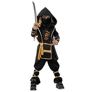"Spring fever Kids Children Special Fashion Boys Ninja Halloween Costumes Black Child L for height(43.3""-51.2"")"