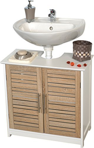 Evideco 9900306 free standing non pedestal under sink - Bathroom vanity under sink organizer ...