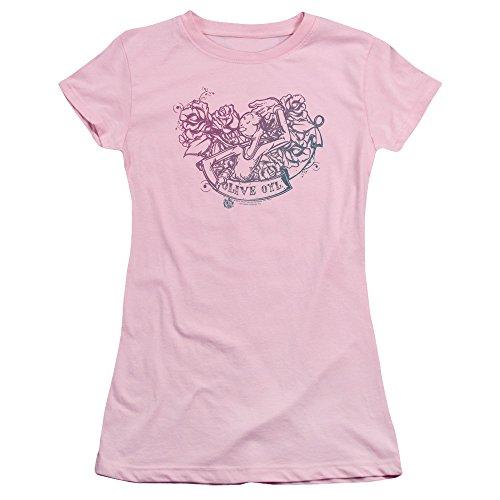Popeye The Sailor Man Cartoon Icon Olive Oyl Tattoo Juniors Sheer T-Shirt Tee (Olive Oyl)