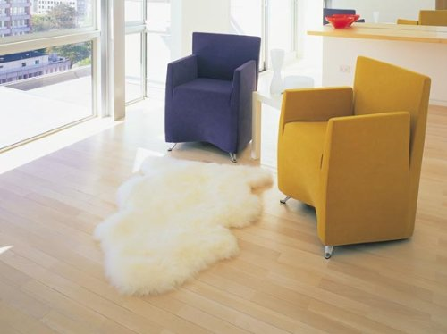 Bowron One Pelt Gold Star Rug by Bowron Sheepskin