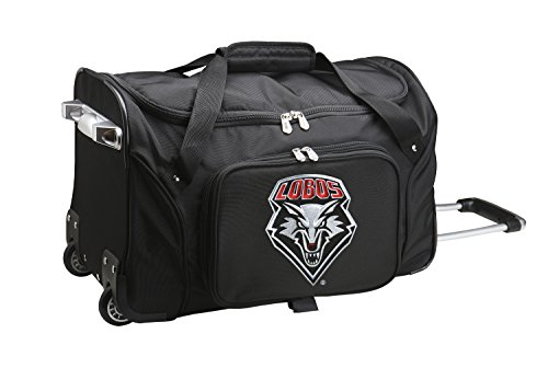 NCAA New Mexico Lobos Wheeled Duffle Bag, 22 x 12 x 5.5