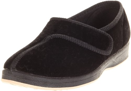Foamtreads Juweel Slippers Zwart Velours
