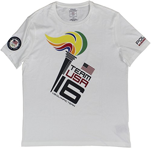 Polo Ralph Lauren Men's 2016 Olympic USA Team Graphic T-Shirt Large Pure - Olympics Polo