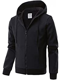 REGNA X Men's Ribstop Bonding Fleece Hoodie Full Zip Up Jacket