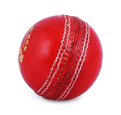 RAISCO Leather Cricket Ball, Size Club  White