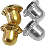 Inverness Replacement Gold Plated and Stainless Steel Clutches 4 pc (1 pair of each type)