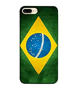 ColorKing Football Brazil 03 Multicolor shell case cover for Apple iPhone 8 plus