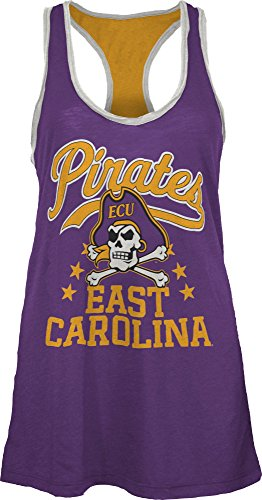 NCAA East Carolina Pirates Nelly Tank, Large, Purple (Carolina East Square Logo)