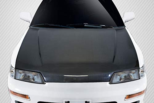 Carbon Creations Replacement for 1988-1991 Honda Civic HB CR-X SiR Look Style Hood - 1 Piece