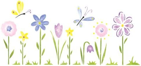Designer Stencils Whimsical Flowers Wall Stencil SKU #3461