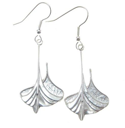 (Sterling Silver Gokstad Viking Ship Earrings)