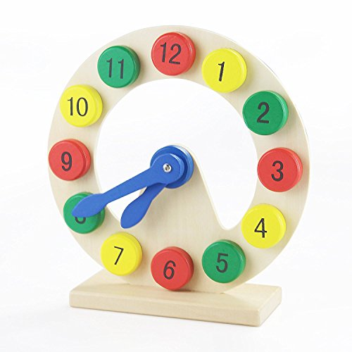 Wooden Learning Clock for Toddlers by KidzZings -