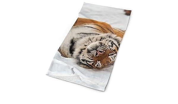 Bengal Tiger On Snow - Bufanda Unisex de Microfibra de Secado ...