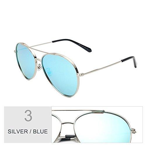 de BULE gafas gafas coloridas morado para mujer Sunglasses polarizadas SILVER conducción negro sol de hombre de mujer sol gafas de TL Vintage aviador gafas sol fCwCq6S