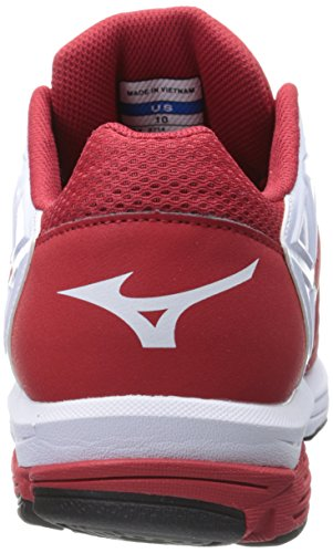 Mizuno Usa Herren Herren Swagger 2 Trainer Baseball Cleat Rot-Weiss