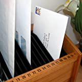 Jumbl 31 Slot Wooden Bill/Letter Organizer with