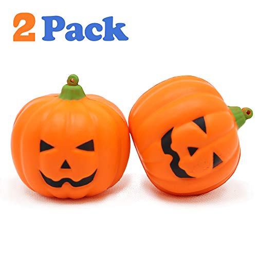 VCOSTORE Squishy Pumpkin 2 Pack, Slow Rising Squishies Halloween Décor Soft and Scented Kid Toys Stress Relief for Kids Adult Party Favor Gifts -