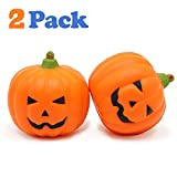 VCOSTORE Squishy Toys Pumpkin Food Pack, 2 Slow Rising Squishies Food Toy Soft and Scented Stress Relief for Kids Gift Adult Halloween Decoration