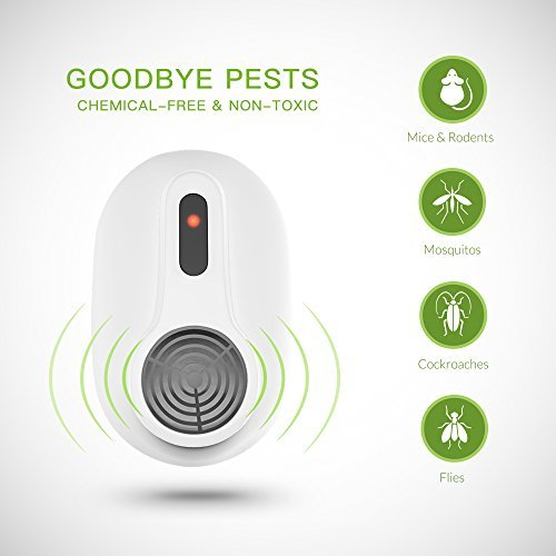 AVANTEK Ultrasonic Pest Repeller Electronic Plug-In Pest Repellent and Pest Control - Repels Mice, Rats, Other Insects