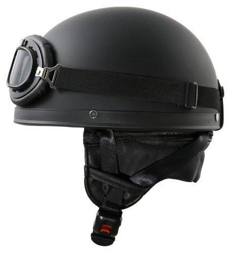 ATO - Casco per moto con occhiali in stile vintage, taglia S, dimensioni 55-56 cm ATO-Helmets H110 S