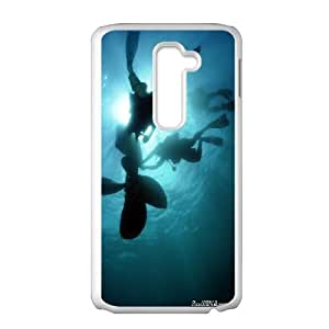 LG G2 Cell Phone Case White Under Water OJ589754