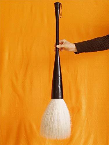 Chinese Calligraphy Big Writing Brush Pen Black-oxhorn-Holder Length 85cm Diameter 70mm White Horse Mane Available (Black-White, 85cm Length 70mm Diameter)