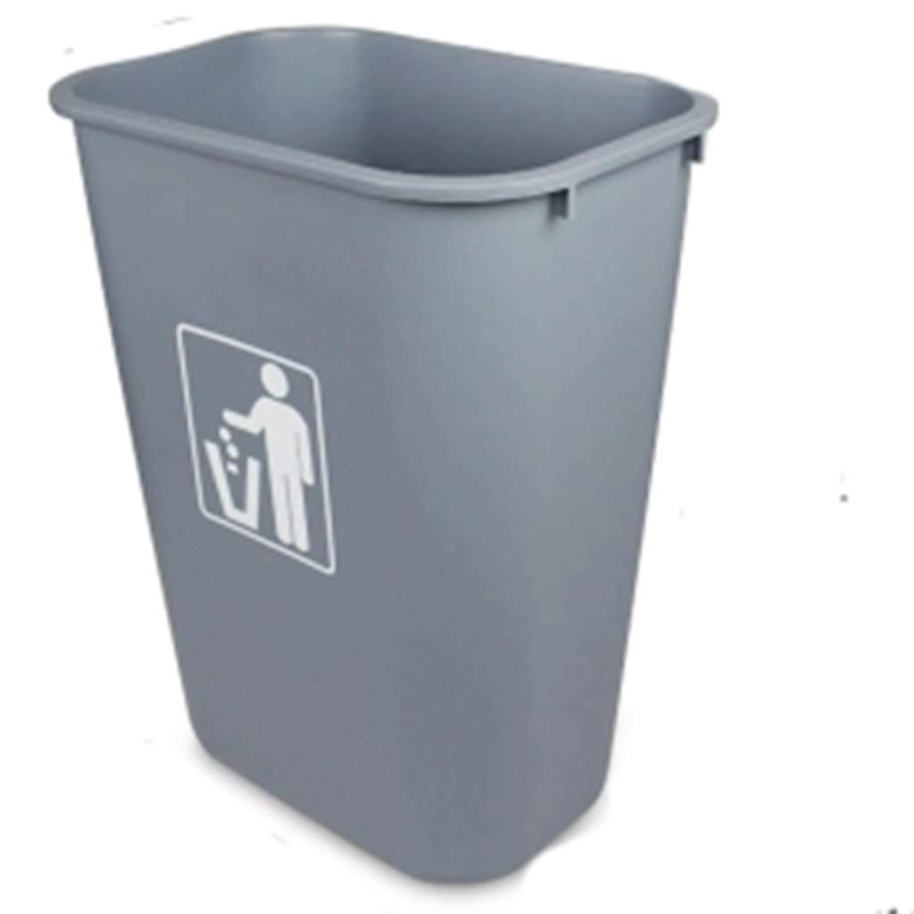 Trash can Trash Can Large Uncovered Trash Can Outdoor Rectangular Trash Can Industrial Plastic Waste Bin