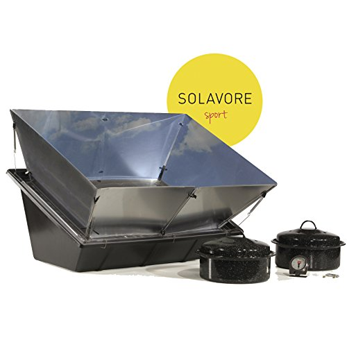 Oven - Portable Solar Cooking Package Complete with All Season Solar Reflectors, 2 Granite Ware Pots, Oven Thermometer, and Water Pasteurization Tool (Solar Oven)