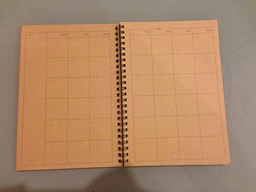 Amazon.com : MUJI JAPAN Recycled Paper Monthly Kraft Note A5 ...