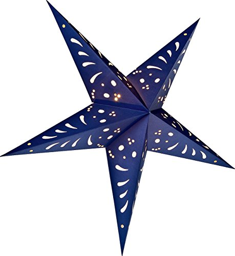 Luna-Bazaar-Paper-Star-Lantern-24-Inch-Navy-Blue-For-Home-Decor-Parties-and-Holiday-Decorations