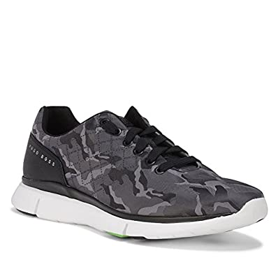 116170f38be Hugo Boss Green Gym Camouflage Canvas Trainer In Grey  Amazon.co.uk  Shoes    Bags