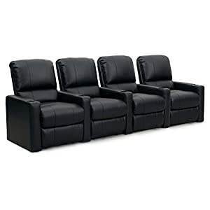 octane seating octane charger xs300 leather home theater recliner set row of 4