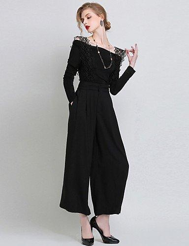 GSP-Damen Jumpsuits - Leger / Party / Übergröße Ärmellos Polyester Mikro-elastisch