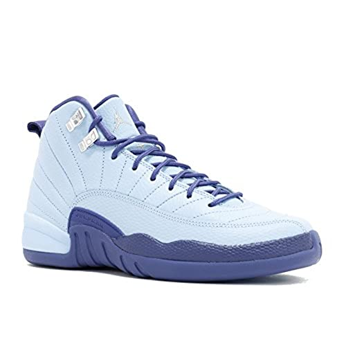d334e5981bea ... Nike Air Jordan Retro 12 HORNETS GS Youth Big Kids BluecapDark Purple  DustMetallic Silver 510815- ...