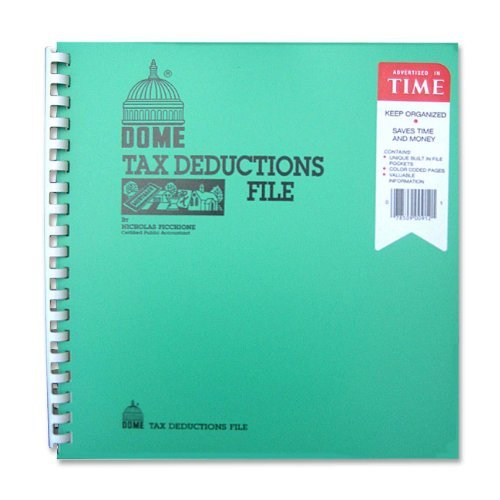 DOM912 - Tax Deduction File, w/Pockets, 11x9-3/4 (Best Income Property Locations)