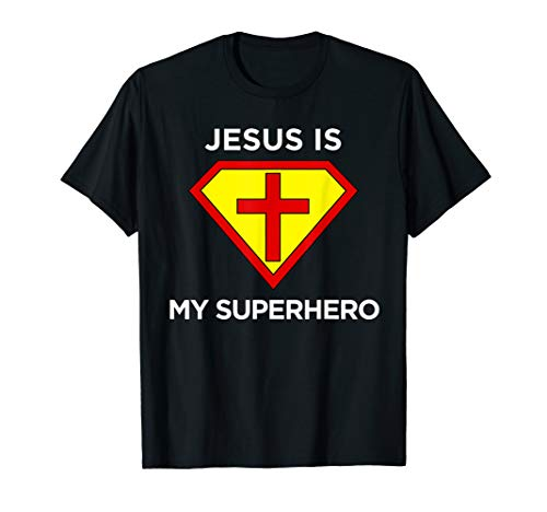 Jesus Is My Superhero Christian Fun Religious T Shirt