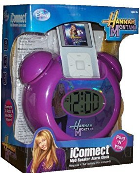 Disney Hannah Montana iConnect MP3 iPod Zune Blackberry Speaker Alarm Clock Plug N Play ()