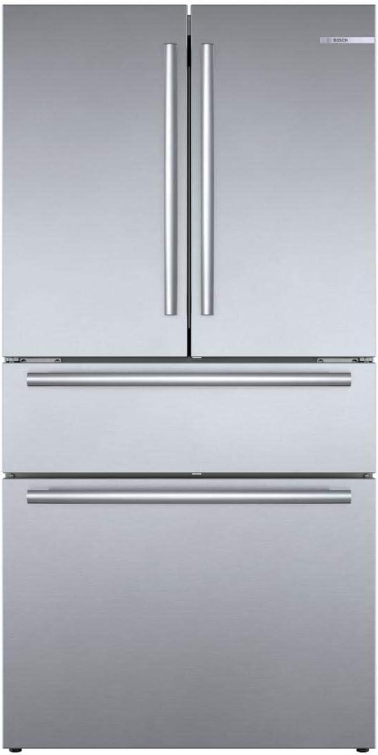 Bosch 800 Series B36CL80SNS 36 Inch Smart Freestanding Counter Depth 4 Door French Door Refrigerator with 20.5 cu. ft. Total Capacity in Stainless Steel (Bar Handle)