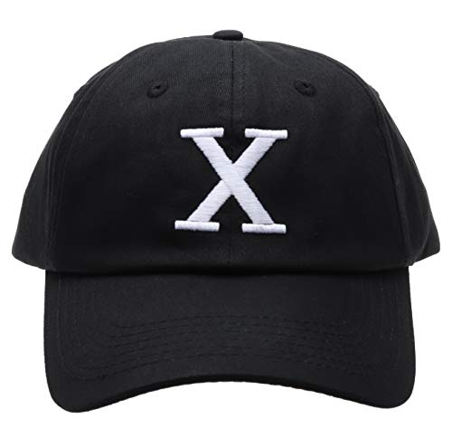 - Malcolm X Hat Dad Cap Custom 90s Embroidered X Logo Vintage Adjustable (Black Hat)