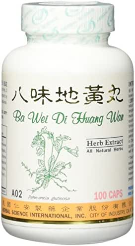 Super 8 Kidney Tonic Dietary Supplement 500mg 100 capsules (Ba Wei Di Huang Wan / Jin Gui Shen Qi Wan) A02 100% Natural Herbs